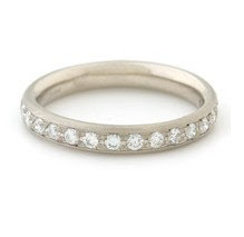 Sterling Silver and White Topaz Stacking Ring