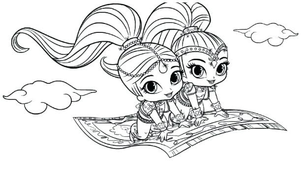 35 Shimmer Shine Coloring Pages Free Printable Coloring Pages
