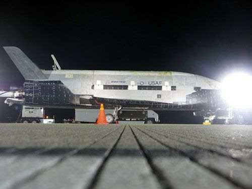 The OTV on the runway at Vandenberg Air Force Base, California...after returning home from space on December 3, 2010.