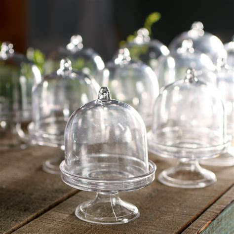 Miniature Acrylic Cloches   Bridal Shower   Party