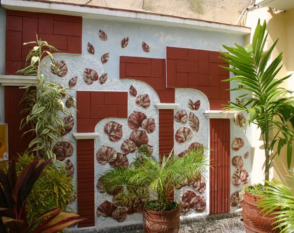 Patio decorado en Sancti Spíritus. El boulevard de Sancti Spíritus. Serie Una ciudad testigo del tiempo.Foto: Daylén Vega/Cubadebate