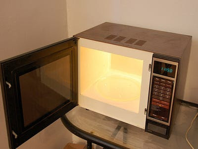Is it safe to microwave food in plastic containers?