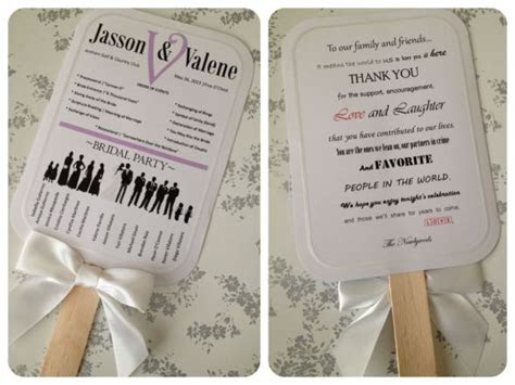 diy paddle fan wedding program software