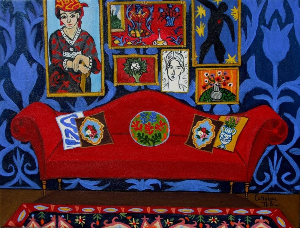 Henri's Red Couch Print