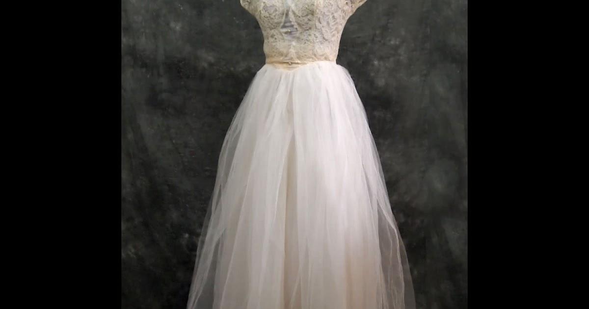 Vintage Wedding Dresses Cheap: Ivory Vintage Wedding Dresses