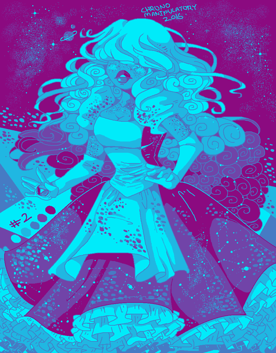 "A color palette challenge with Sapphire and the palette ""Sodas and skateboards"" (x)"