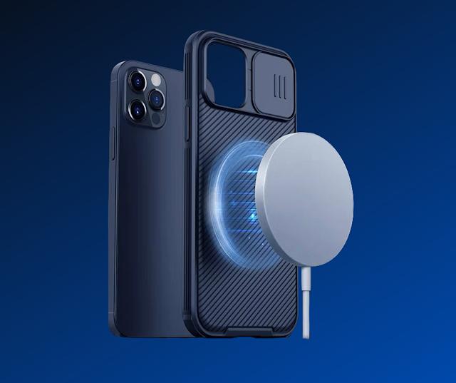 【iPhone 12 系列配件套裝】Nillkin 滑蓋電話殼 具備Magsafe磁吸 + 15 W無線快充