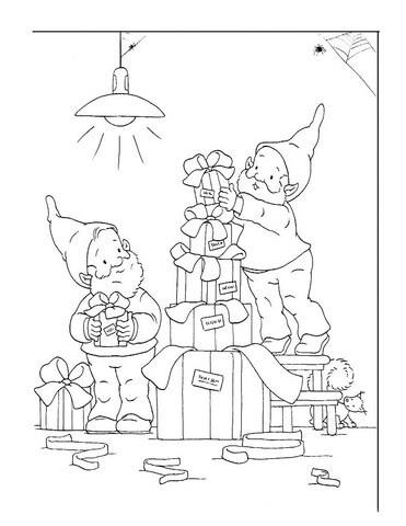Disegno Di Nani Aiutano Babbo Natale Da Colorare Disegni Da