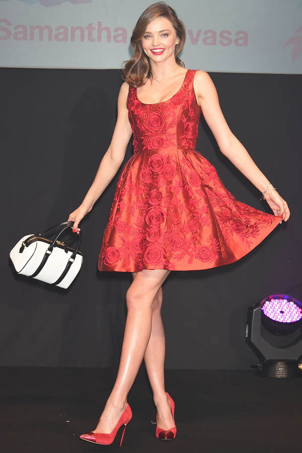 Miranda Kerr attends Samantha Thavasa Christmas event at Shibuya Hikarie Hall