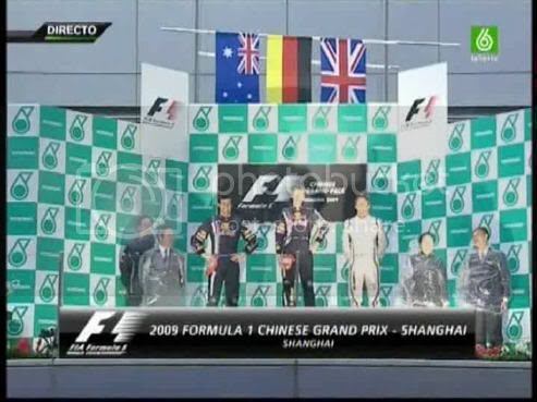 Podium GP China 2009