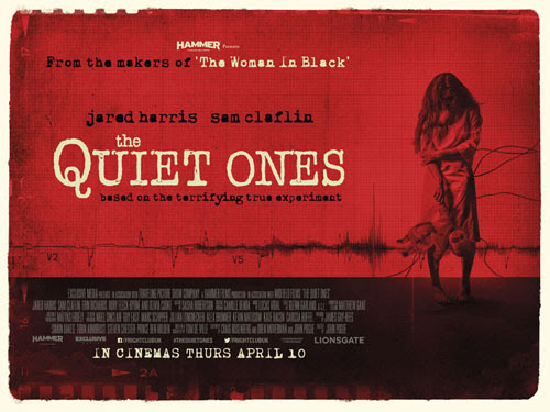 quad poster for The Quiet Ones starring Jared Harris
