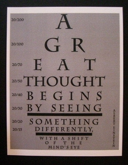 RESERVED - Do You See What I See - Albert Einstein 8.5x11 Print