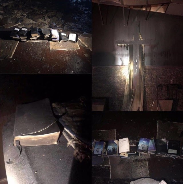 Fire Razes Church Completely, But Not A Single Bible Was Touched (Photos)