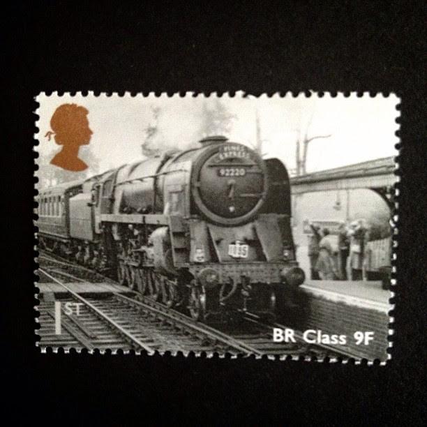 Day 14: black and white #train #vintage #stamp #postagestamp #postalsociety #psjune #challenge #scavengerhunt #blackandwhite #british