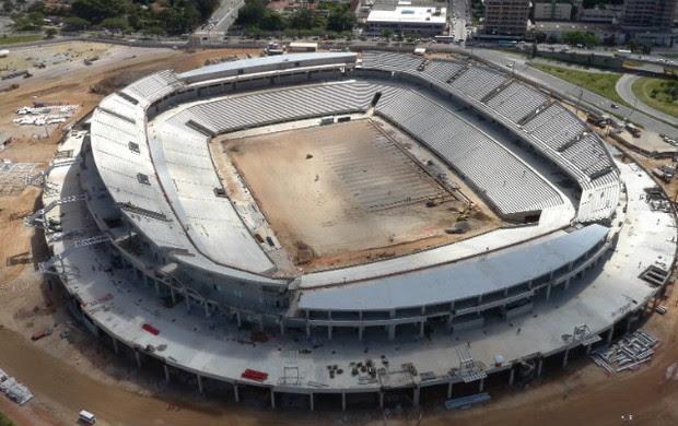 Vista aérea da Arena das Dunas (Foto: Divulgação/Secopa-RN)