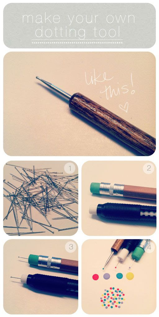 Polka Dots? Confetti mani? No problem! DIY dotting tool from thebeautydepartment.com xo