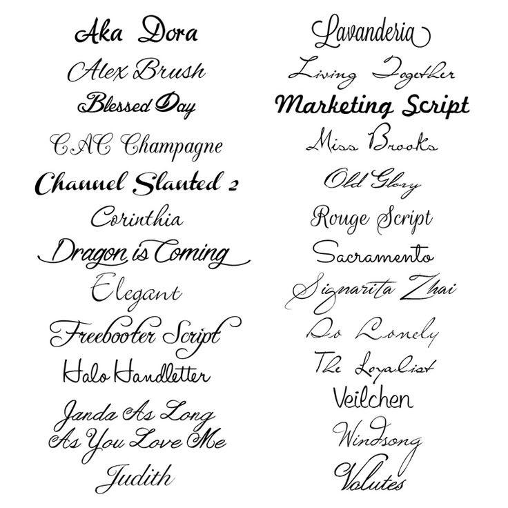 25 script fonts