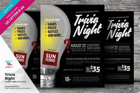 Trivia Night Flyer Template Vol.01 ~ Flyer Templates