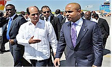 Haitian Prime Minister Laurent Lamothe was met by Cuban Deputy Foreign Minister Rogelino Sierra at the Jose Marti International Airport. Haiti and Cuba discussed bilateral relations during the visit. by Pan-African News Wire File Photos