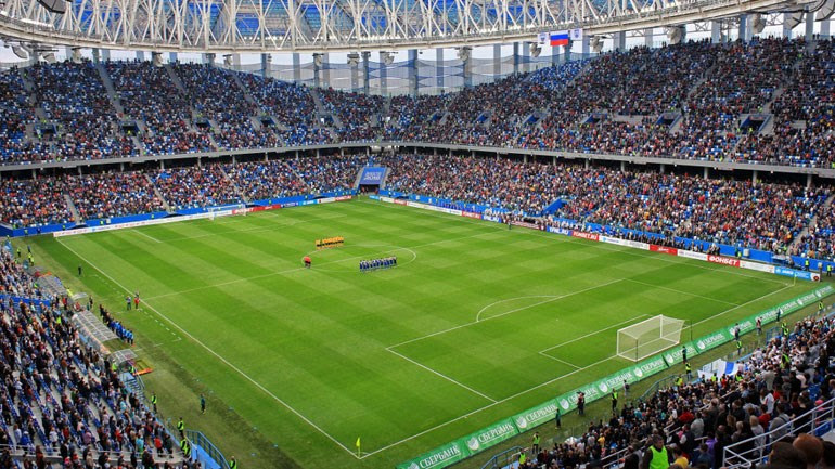 Πρόκειται για ακόμη γήπεδο που χτίστηκε λόγω του Μουντιάλ και μετά τη λήξη του Παγκοσμίου Κυπέλλου θα είναι η έδρα της Olimpiyets Nizhny Novgorod. Θα φιλοξενηθούν εκεί παιχνίδια των ομίλων, παιχνίδι της φάσης των «16», αλλά και των προημιτελικών. Η χωρητικότητα του είναι 44.899 καθίσματα.