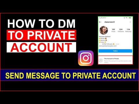 How to DM Private Account on Instagram | how to send message on instagram private account