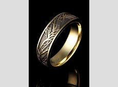 Tree of Life Wedding Ring in yellow gold.   Cool wedding rings, Wedding rings simple, Beautiful