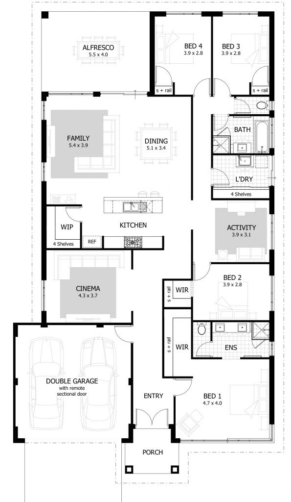 Inspirational Best Floor Plan For 4 Bedroom House - New ...