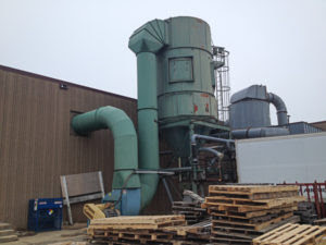 Due to particulate emissions, Dust Control Cyclone Systems often require a state air emission control permit