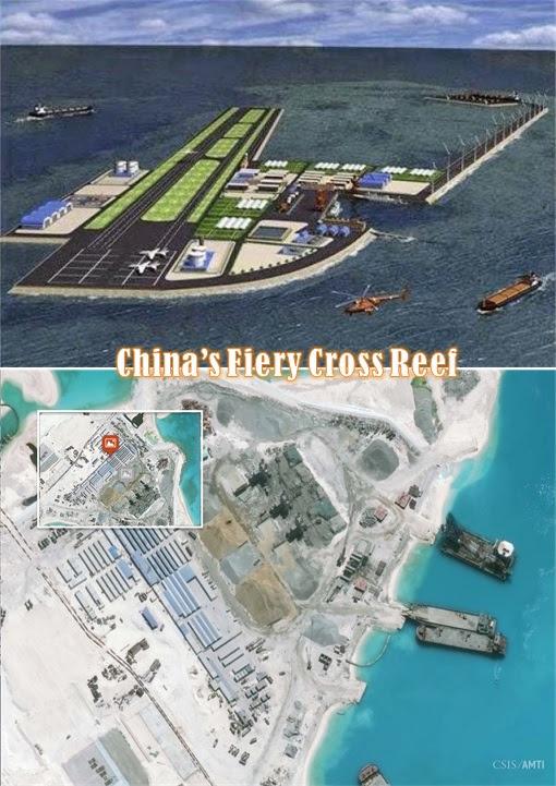 China Fiery Cross Reef - Spratly Island