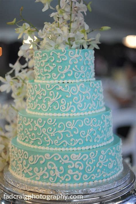 Best 25  Turquoise wedding cakes ideas on Pinterest   Teal
