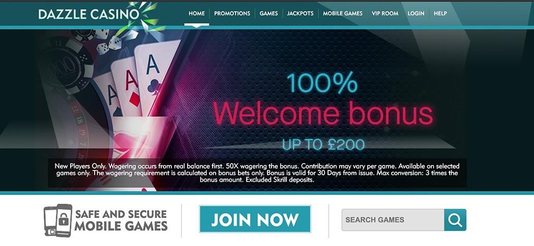 2020 dazzle casino review grab a 100% bonus when you sign up