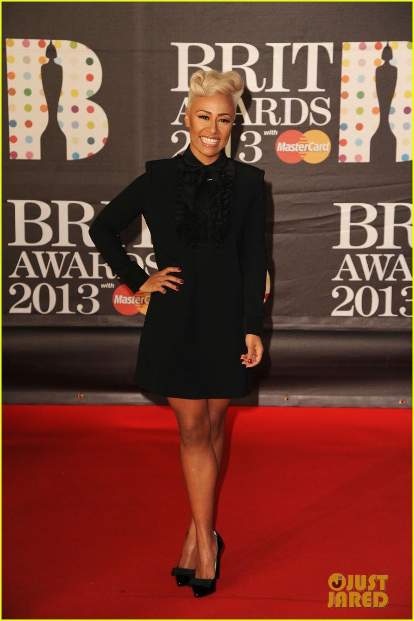 emeli sande brit awards 2013 performance red carpet 07