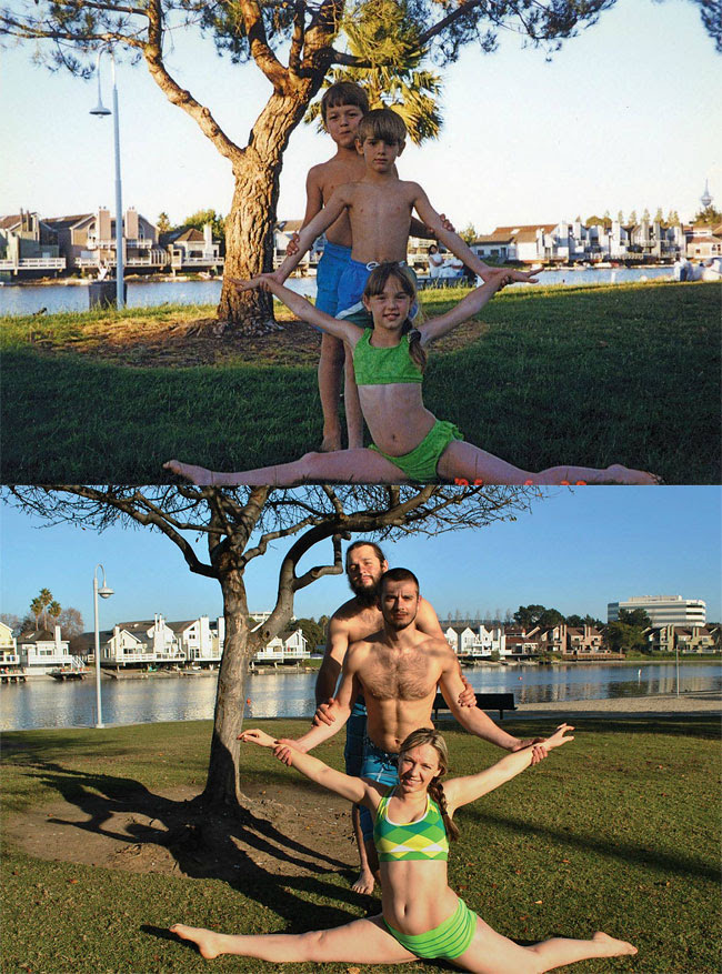 109 Amazing 12 page Calendar of Recreated Family Photos