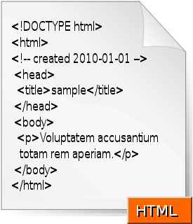 A graphical despiction of a very simple html d...