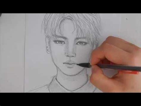drawing jimin tutorial youtube