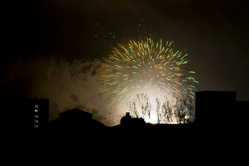 Skyline & fireworks
