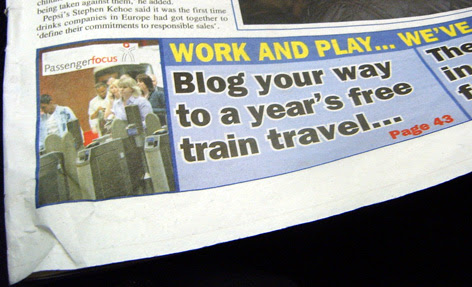 Rail Travel Blog Competition in Metro