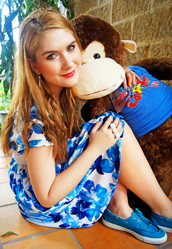 Floral dress and Monkey by The Joy of Fashion (2)