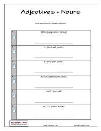 English Grammar Printable Adjective Exercises