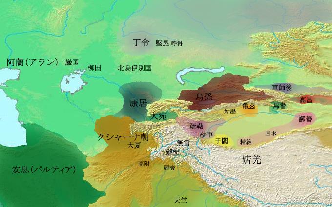 Western Regions 3rd century (ja).png