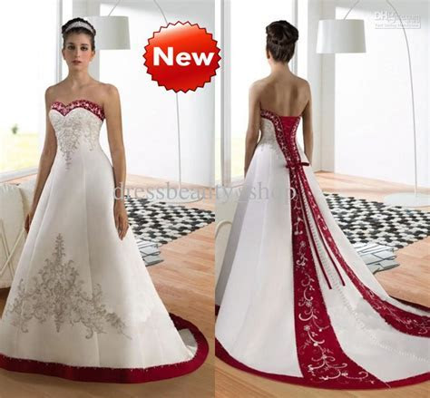 Discount Sweetheart Luxury Embroidery A Line Wedding