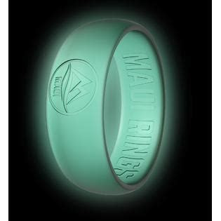 Silicone Wedding Ring MAUI RINGS GLOW in The Dark