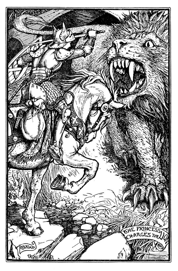 Henry Justice Ford - The violet fairy book, edited by Andrew Lang, 1906 (illustration 13)