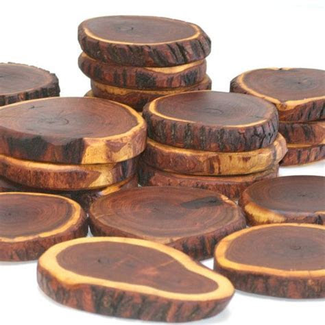 Mesquite Wood Coasters Trivets   set of 6 on Etsy, $52.00