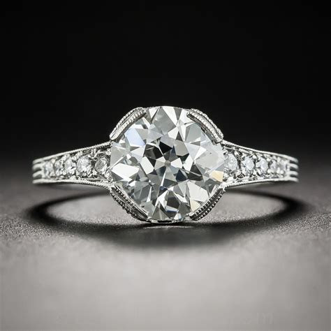 2.04 Carat European Cut Diamond Vintage Style Engagement