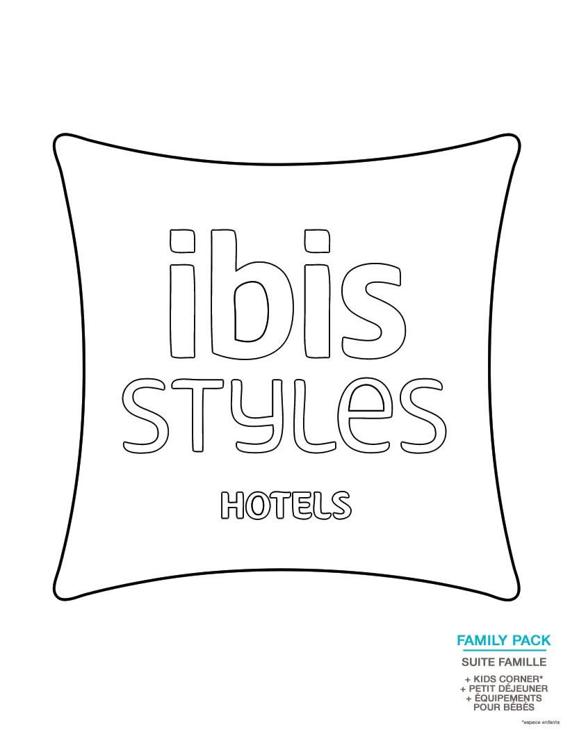 Coloriage Logo ibis Styles