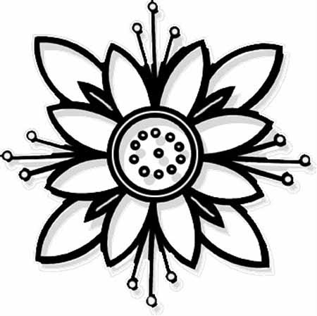 Flower Coloring Pages On 99
