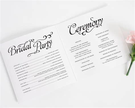 Alluring Script Wedding Ceremony Programs   Wedding