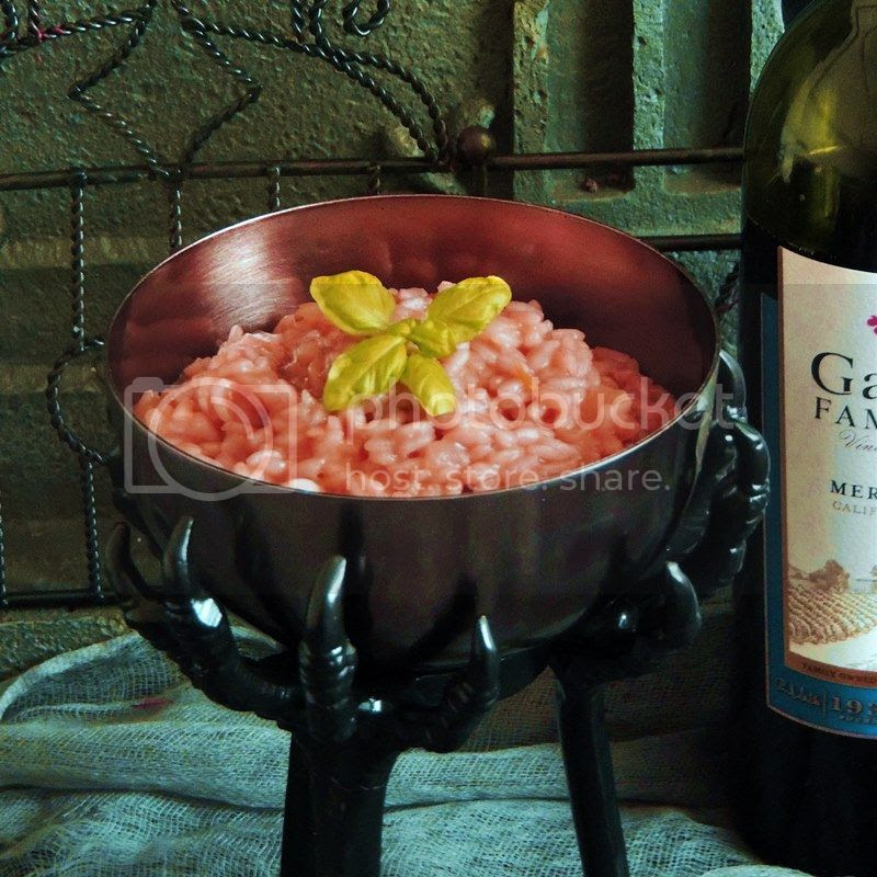 Witches Blood (Red Wine) Risotto