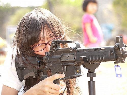 Rifle & Girl